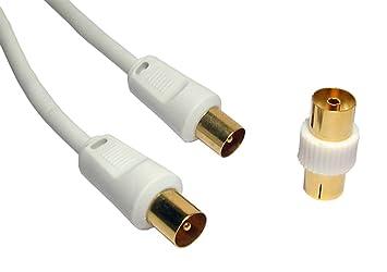 Calidad Profesional 10m Cable coaxial - 24k Gold Plated Clavijas - Campanas de plata metálica