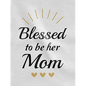 Blessed Mommy & Me Mom T-Shirt & Daughter Bodysuit Matching Set for Mother's Day