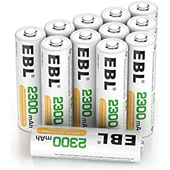 Amazon.com: EBL Pack of 16 AA Batteries Rechargeable NiMH