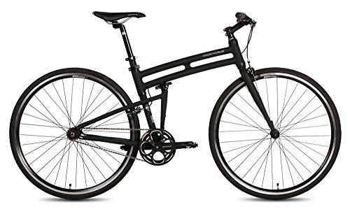 New Montague Boston Folding 700c Pavement Hybrid Bike Matte Black 19