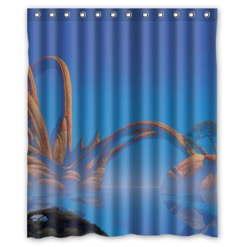 HANLU Custom Roger Dean Waterproof Fabric Shower Curtain 60quot