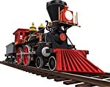 12'' Cartoon STEAM LOCOMOTIVE TRAIN #1 on railroad tracks Wall Decal Kids sticker Graphic Art Décor SMALL