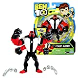 Cartoon Network Year 2017 Ben 10 Series 5 Inch Tall Figure - FOUR ARMS with 2 Chain Links