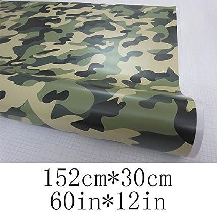 30cm : Army Green Urban Camo Camouflage Vinyl Car Wrap Sticker Air