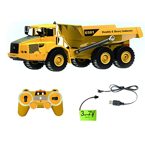 Coaste Large Remote Control Articulated Dump Truck Transportation Model Car Toy,Engineering Large Truck Tipping Bucket Car,High Simulation,Kids Present.