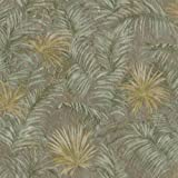 16093RC - Roberto Cavalli 5 Leaves Floral Greens Wallpaper