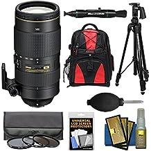 Nikon 80-400mm f/4.5-5.6G VR AF-S ED Nikkor-Zoom Lens + Backpack + 3 Filters + Tripod for D3200, D3300, D5300, D5500, D7100, D7200, D750, D810 Camera