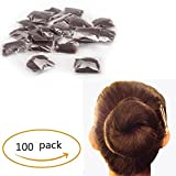 Pack of 100pcs 22'' Hair Nets Invisible Elastic Edge Mesh Fancy Look Hair (Dark Brown-100)