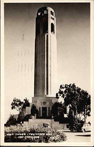 Coit Tower - Telegraph Hill San Francisco, California Original Vintage Postcard