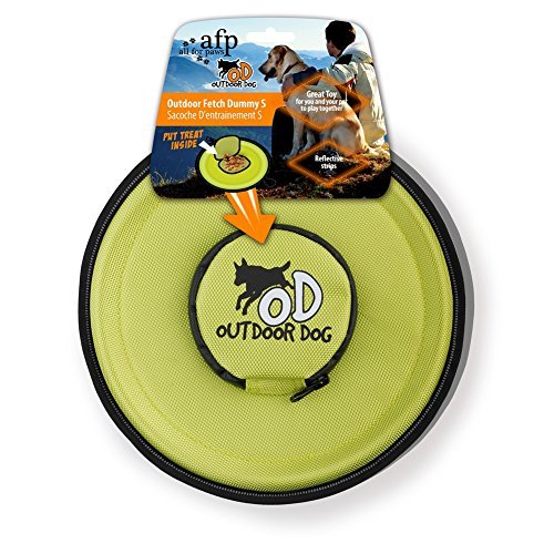 Dog Flying Discs Flyer Dog Toy Outdoor Fetch Frisbee with Food Storage (Green)