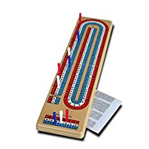 "Bicycle Folding Cribbage Board 12"" - 3 Track with Pegs & Instructions"