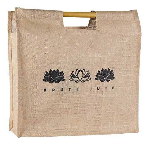 Brute Jute Eco-friendly Bamboo Handle Grocery Tote Bag (Lotus)