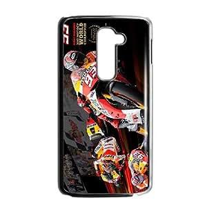 Hdquk Unique Design Cases LG G2 Cell Phone Case Marc Marquez Printed Cover Protector