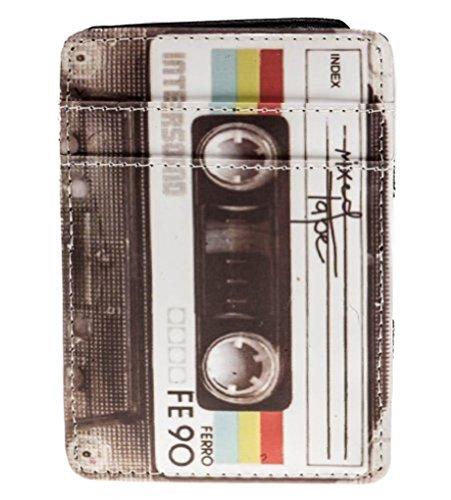 Shag Wear Men's Retro Inspired Magic Trick Wallet Vintage Cassette Tape Pattern