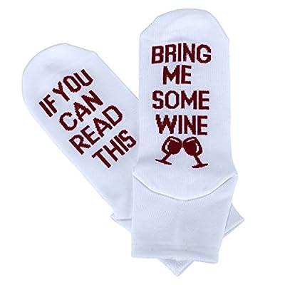 Women's Cotton Funny Crew Socks Novelty Funky Cute Wine Party Hosiery Gift