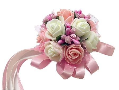 Westeng Wrist Flowers Corsage Wedding Party Prom Dress Bride
