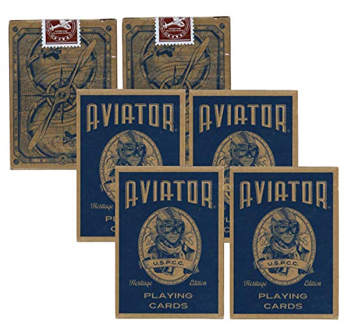 Aviator Heritage Edition Poker Use Playing Cards, 6 Decks