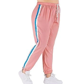 exceptional range of styles designer fashion super cheap Amazon.com: FGDJEE Women Plus Size Pink Side Stripe Joggers ...