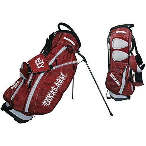 Team Golf NCAA Texas A&M Aggies Fairway Golf Stand Bag, Lightweight, 14-way Top, Spring Action Stand, Insulated Cooler Pocket, Padded Strap, Umbrella Holder & Removable Rain Hood
