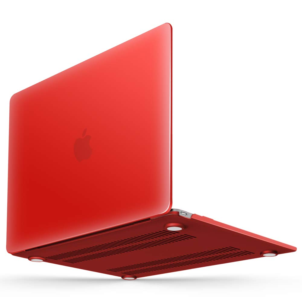 iBenzer Soft-Touch Series Plastic Hard Case for MacBook 12 inch with Retina Display Model A1534 (Newest Version 2017/2016/2015), Red