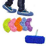 10pcs (5 Pairs) Kids Children Multi Function Dust Mop Slipper House Cleaner Washable Lazy Floor Dusting Cleaning Foot Shoe Covers Office Home Floor Bathroom Kitchen Cleaner