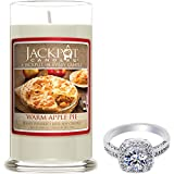 Warm Apple Pie Candle with Ring Inside (Surprise Jewelry Valued at $15 to $5,000) Ring Size 7