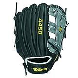 Wilson Youth Advisory Staff Yasiel Puig Baseball Glove, Black/Grey, Right Hand Throw, 12-Inch