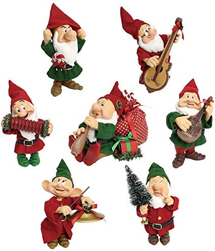 Department 56 Disney Seven Dwarfs Christmas Celebration by Possible Dreams Figurine, 5 , Multicolor