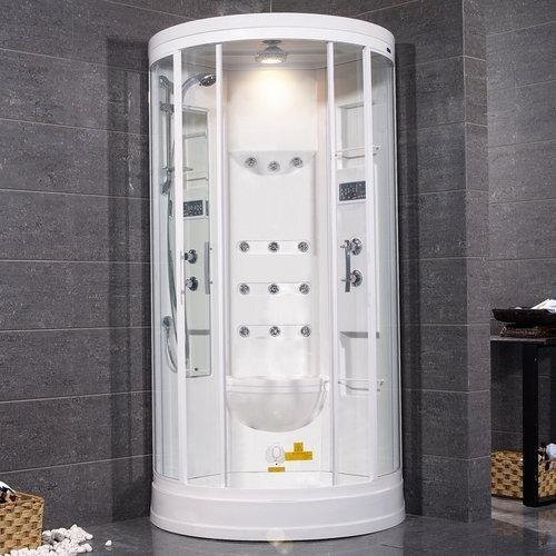 Sliding Door Steam Sauna Shower with Bath Tub Size: 85