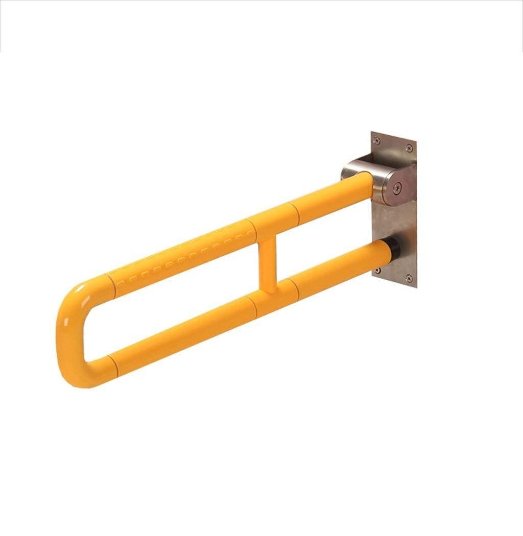 グレイブバー 折りたたみ式アームレスト - グラブバーの安全ハンドル、レール304ステンレススチール、滑り止めの安全、壁掛け、高齢者用/身体障害者用のトイレ/シャワーアームレスト 扱います (Color : Yellow) B07SZL979S Yellow