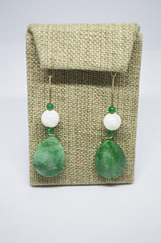 Candy Jade With Nacre Pearl Earrings