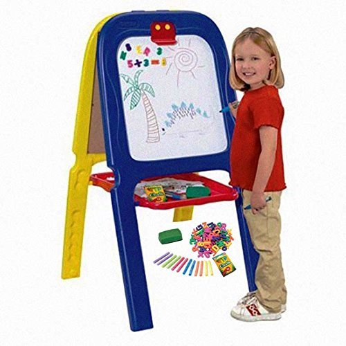 Crayola 3-in-1 Double Kids Easel, Blue & Yellow