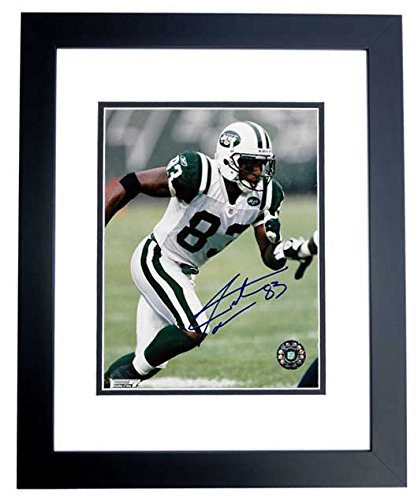 - Santana Moss Signed - Autographed New York Jets 8x10 inch Photo BLACK CUSTOM FRAME - Guaranteed to pass PSA or JSA