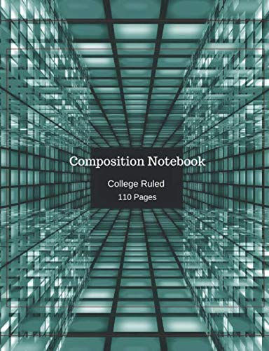 Composition Notebook: College Ruled 110 Paged Glass Cubes
