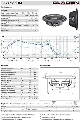 Gladen Rs X 12 Slim 30cm Flach Subwoofer Auto
