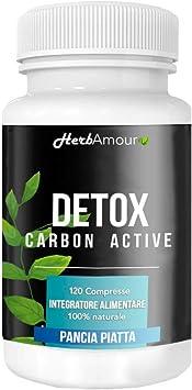 HerbAmour DETOX CARBON ACTIVE I 120 Pastillas Carbón Activado ...