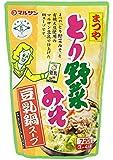 マルサンアイ まつやとり野菜みそ 豆乳鍋スープ 720g×2袋