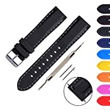Ritche 18mm 20mm 22mm Quick Release Silicone Replacement Wrist Watch Bands Straps for Mens Womens