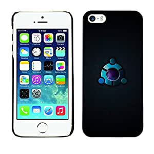 MOBMART Carcasa Funda Case Cover Armor Shell PARA Apple iPhone 5 / 5S - The Gray Metallic Eye Hole