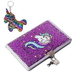 Purple-unicorn Reversible Sequin Journal