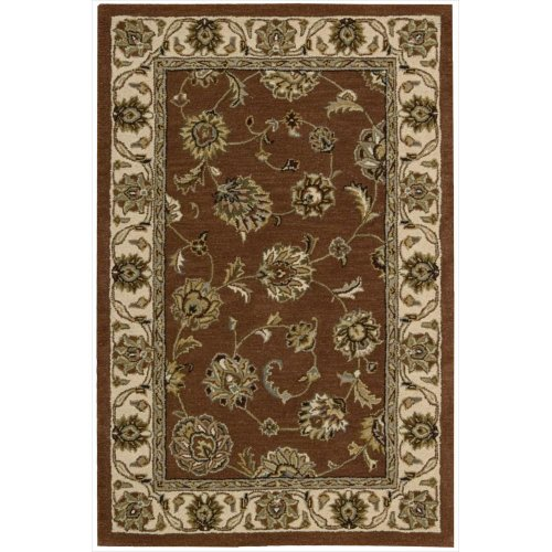 Nourison India House (IH73) Rust Rectangle Area Rug, 3-Feet 6-Inches by 5-Feet 6-Inches (3'6
