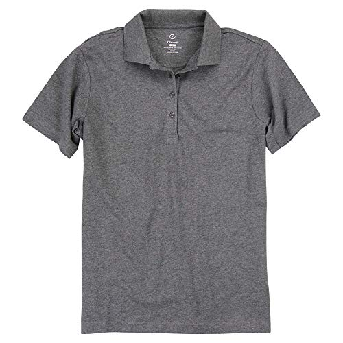 Womens Short Sleeve Poly/Cotton Pique Polo Shirt (Smoke Heather, Large)