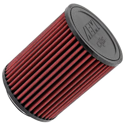 AEM 21-2036DK Universal DryFlow Clamp-On Air Filter: Round Straight; 3 in (76 mm) Flange ID; 6.5 in (165 mm) Height; 5 in (127 mm) Base; 5 in (127 mm) Top: Automotive