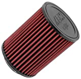 3in cone air filter - AEM 21-2036DK Universal DryFlow Clamp-On Air Filter: Round Straight; 3 in (76 mm) Flange ID; 6.5 in (165 mm) Height; 5 in (127 mm) Base; 5 in (127 mm) Top