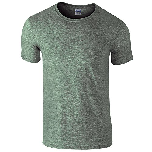 Adult Military Green T-shirt - Adult Softstyle 4.5 oz. T-Shirt (HTH MILITARY GRN M)
