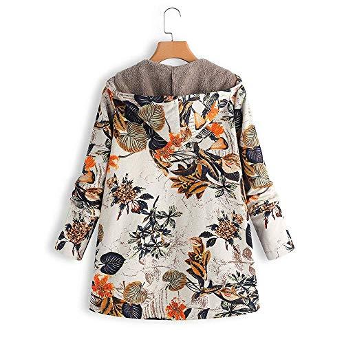Orange XL Taille Chaud Zip Fourrure Veste couleur D'hiver Hiver Femme Capuche Orange Zhrui Avec Surdimensionné Et HAwRqxC