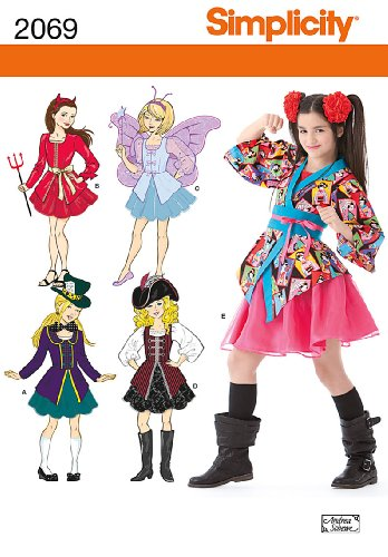 Simplicity Sewing Pattern 2069: Girl's Costumes, A - Girls Pattern Sewing Costume