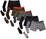 Related Garments Men's Matching Socks, No-show socks and Boxer Briefs: WeekNight 15 piece set SM