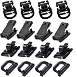 OneD 16Pcs Tactical Bag Accessories for MOLLE Webbing Attachment Backpacks Including D-Ring Grimloc Locking / Buckle Clip / Hydration Tube Clip / D-Ring Clip for Outdoor Molle Backpack