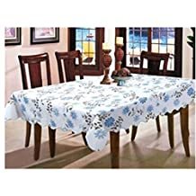 KAKA(TM) New Modern style PVC Waterproof Oil Dining Tablecloth Non-toxic Rectangle tablecloth tablecloth Restaurant Table Cover-Blue lace wave £¨53.9*72 inch)